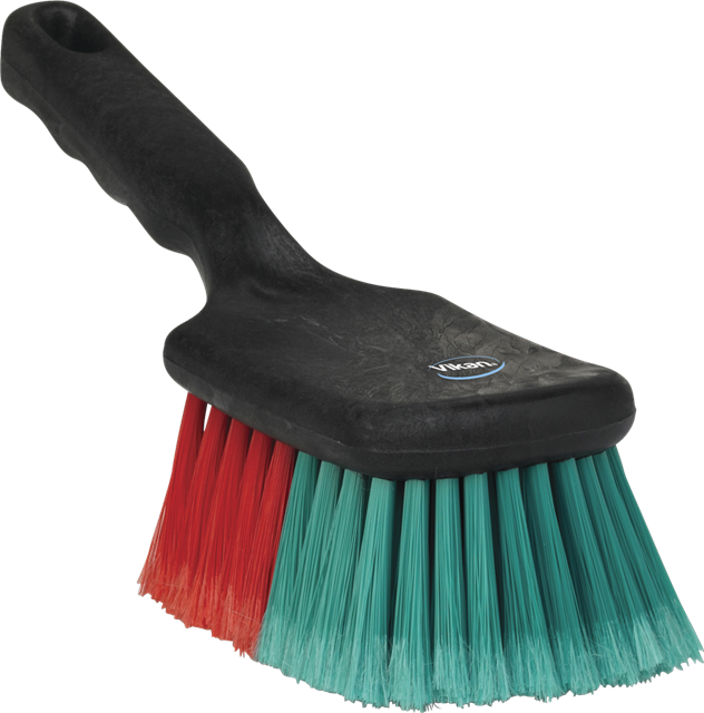 vehicle brush with short handle