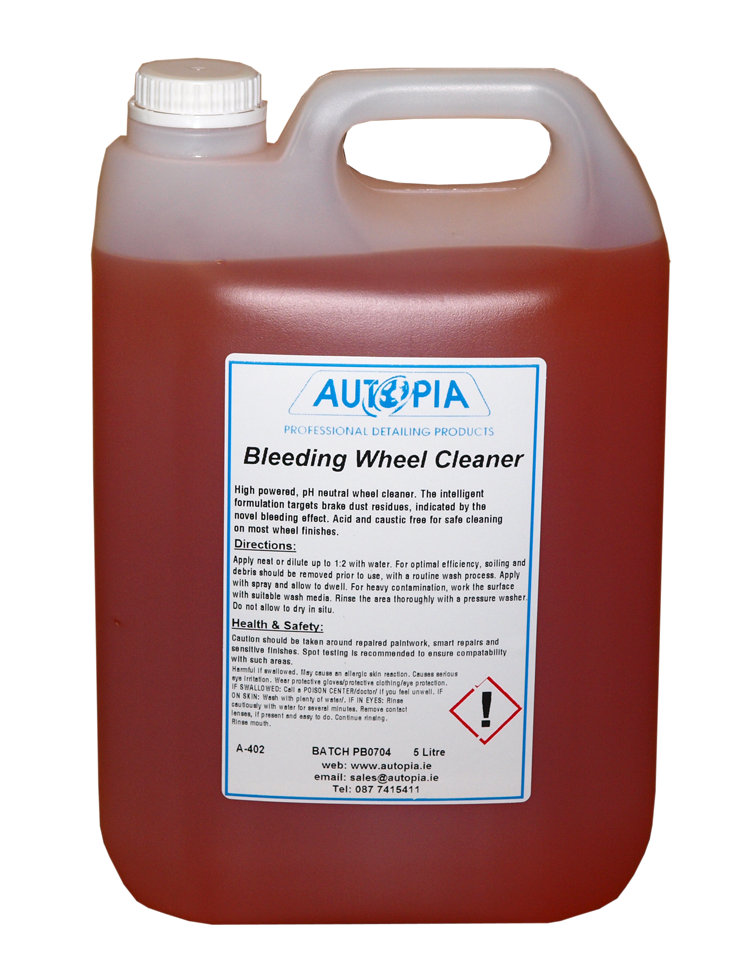 bleeding wheel alloy wheel cleaner