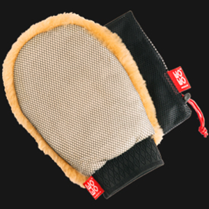 Lambs Wool Wash Mitt - with bug removing mesh