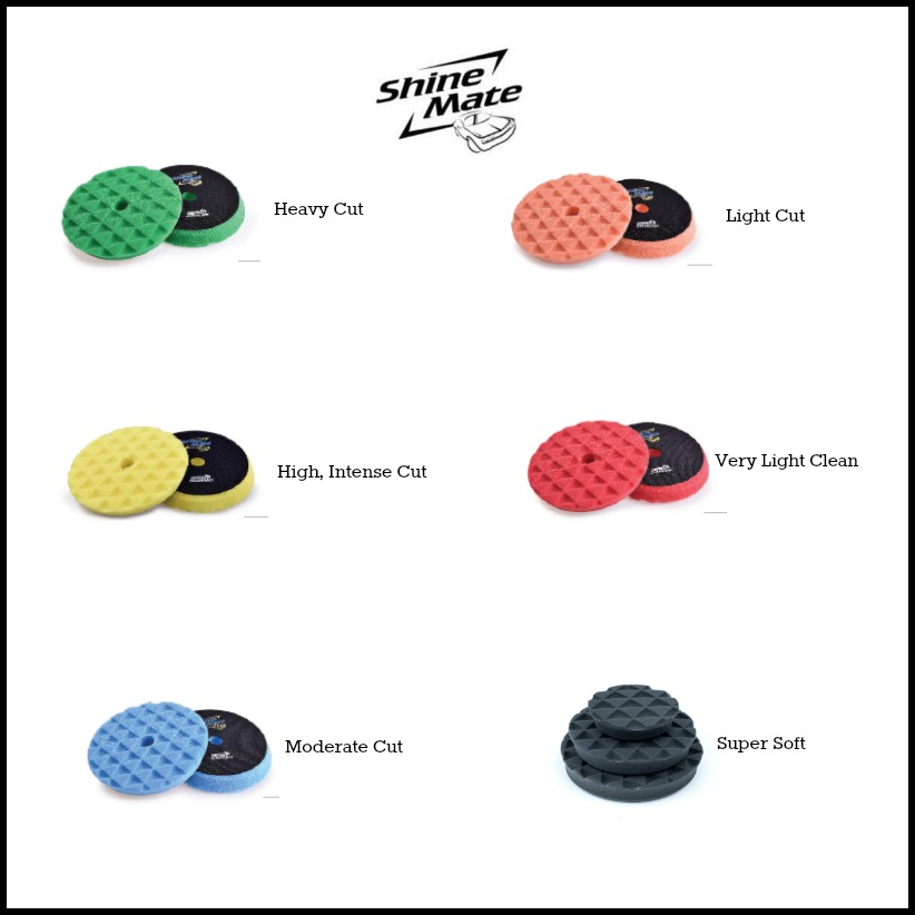 shinemate diamond foam polishing pads