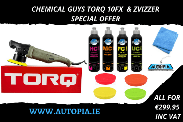CHEMICAL GUYS TORQ 10FX & ZVIZZER SPECIAL OFFER